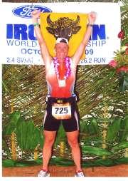 Freude herrscht nach dem finishen des Ironman Hawaii 2009