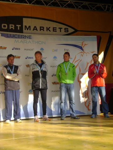 2008: Lucerne Marathon, 3. Gesamtrang, Zeit 2Std. 35'