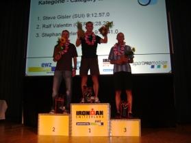 2009: Ironman Zürich 1. Rang AK 45, 9Std 12', Qualifikation für Ironman Hawaii ist geschafft. Podestplatz zuoberst...