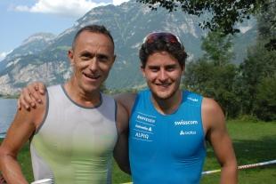 2013: Urner Triathlon, Steve mit heutigem Weltklasse Langläufer und Klubkollege Roman Furger SSC Schattdorf