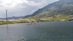 """...nach getaner Arbeit """"Trailrunning"""" das wohlverdiente Bad auf ¨über 2'000m.ü.M."""