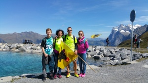 2014: Jungfraumarathon, ebenfalls als Fään und Betreuer unterwegs, hier mit der kompletten Familie